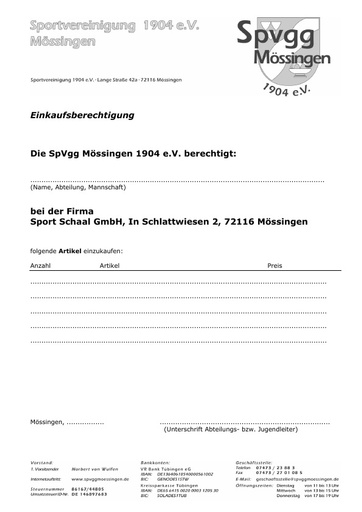 SpvggMoessingen Einkaufsberechtigung Schaal 2018